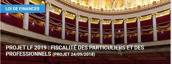 Projet Lf 2019 Fiscalite Des Particuliers Et Des Professionnels